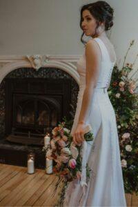 Robe de mariée minimaliste