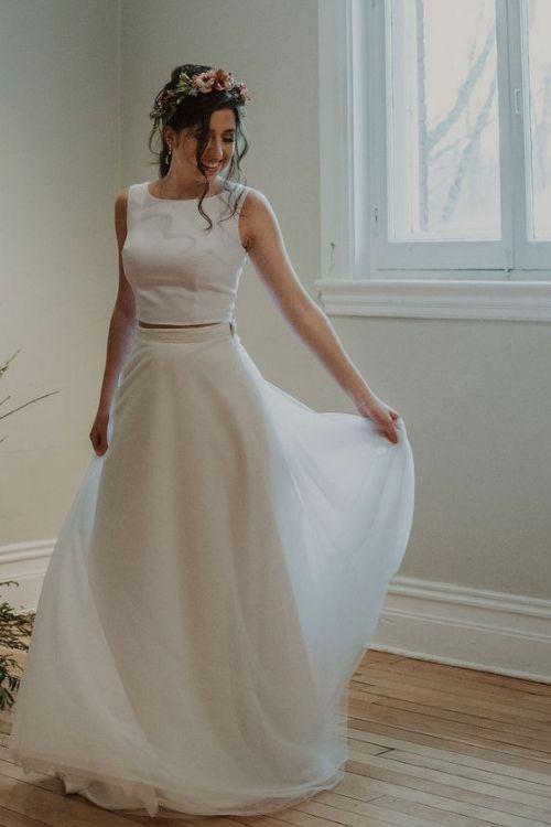 Pégase est une jupe pour les mariées qui souhaite du volume et veulent se sentir sur un nuage.
