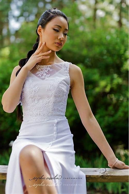 Mariée moderne et audacieuse la jupe Australe s'adapte à tous les styles.